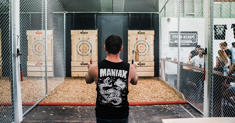 MANIAX Axe Throwing Comes To Perth