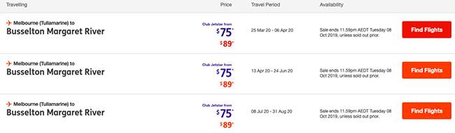 Busselton to Melbourne cheap flight