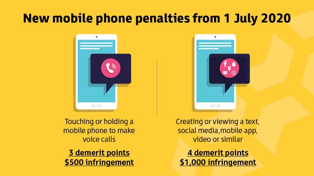 New mobile phone penalties in WA