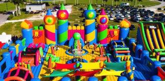 world's biggest bouncy castle coming to Perth