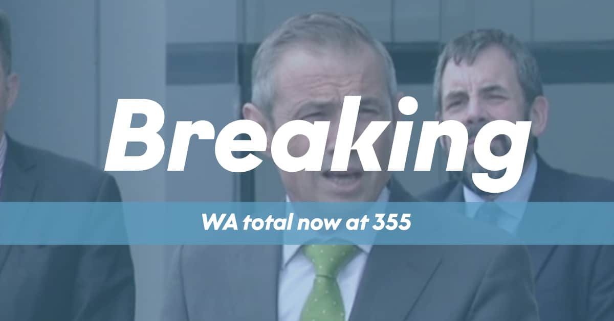 Breaking News - 355 WA state total