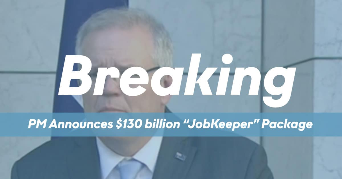 JobKeeper Package Annoucement