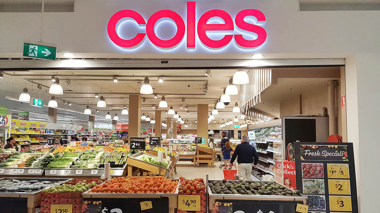 Coles restrict online shopping