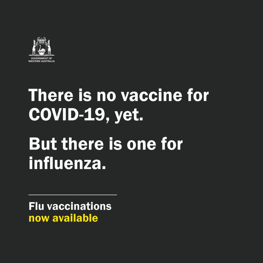 Influenza shot WA campaign