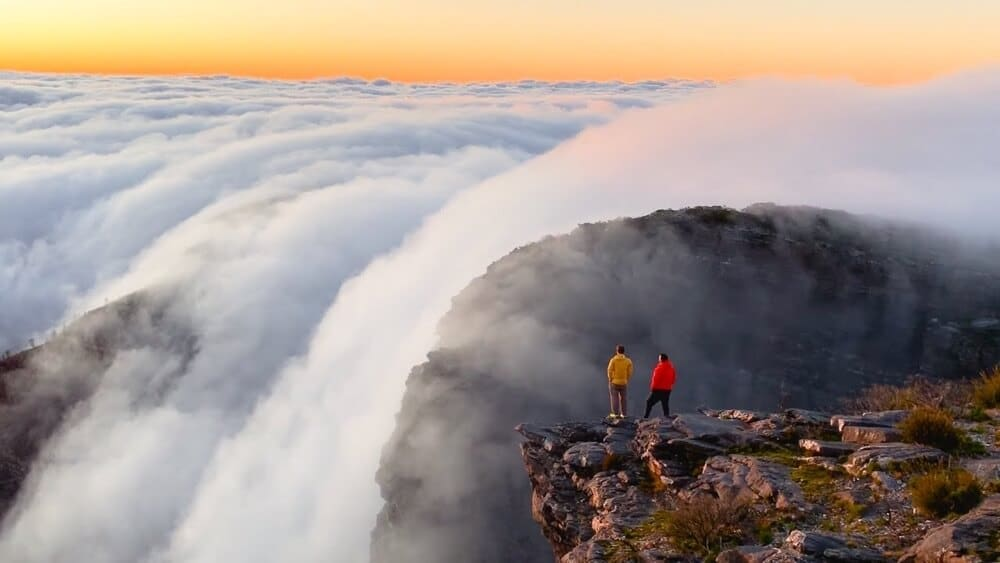Cloud Waterfall On Bluff Knoll